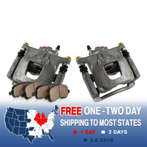 Rear Brake Calipers And Pads For 2008 2009 2010 2011 NITRO JEEP LIBERTY WRANGLER