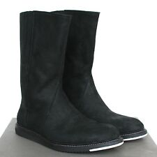 RICK OWENS $1,600 men's distressed black leather runway creeper boots 11/44 NEW