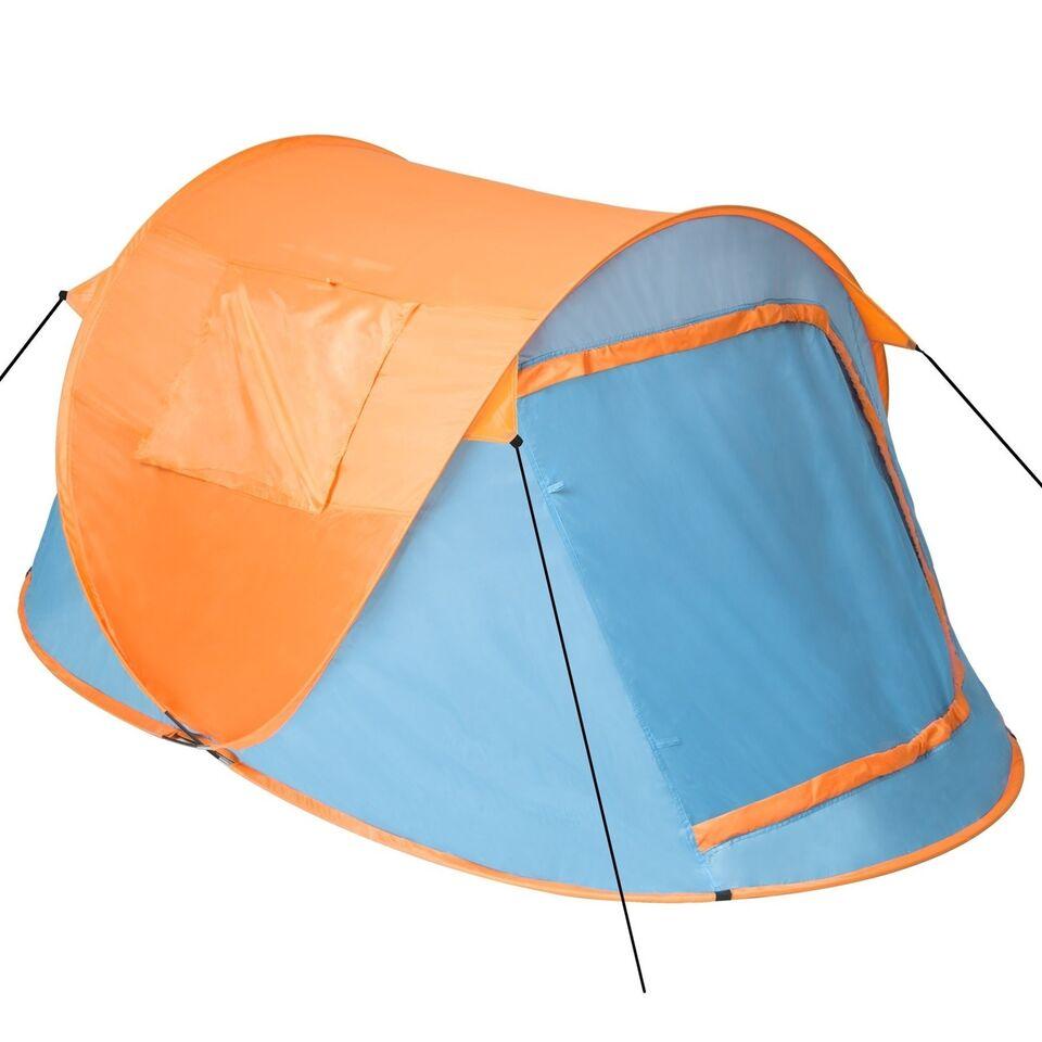 Pop up strandtelt blå/orange