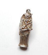 Rare Vintage 925 Silver CHIM TUTANKHAMUN OPENING EGYPTIAN MUMMY Charm 4.1g
