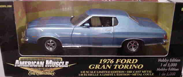 2018 Ford Gran Torino azul 1/5000  Ertl American Muscle 33198