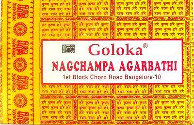 12 Pack Goloka Nag Champa Per 16g (192g, 100g = € 7,24) La Incensi Giallo-n Die Gelben It-it