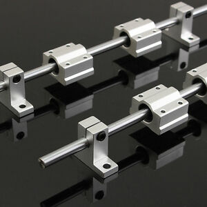 Details about 2Pcs 8mm 400mm Linear Shaft Rod Rail Kit W/ Bearing Block For  3D Printer CNC