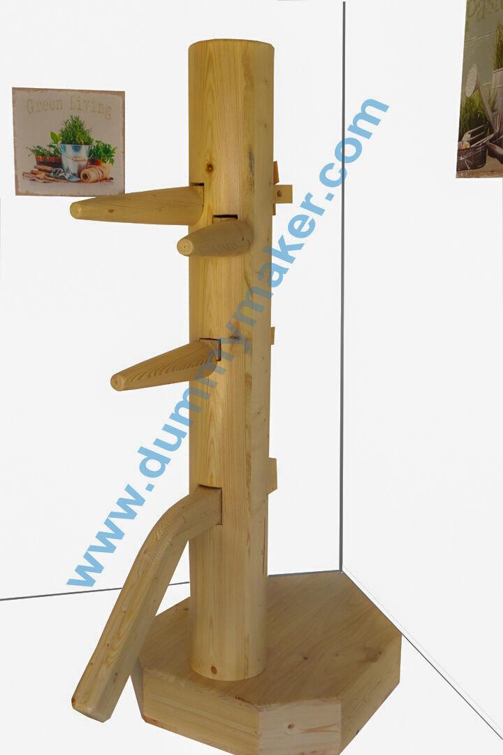 Wing Chun Wooden Dummy Closed Closed Closed Base Corner Natural Farbe ea42d5