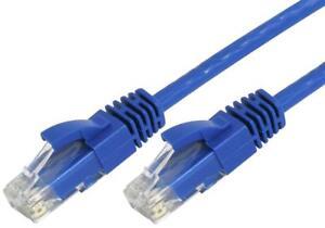 5 M Blue Patch Lead Cat6 Cordon Utp Cat 6 Rj45 Ethernet Lan Câble Cables Direct 0.5-afficher Le Titre D'origine Disponible Dans Divers ModèLes Et SpéCifications Pour Votre SéLection