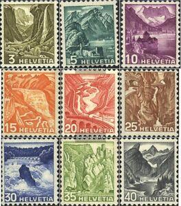 Schweiz-297-305-kompl-Ausgabe-gestempelt-1936-Landschaften