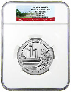 2019-American-Memorial-Park-5-oz-Silver-ATB-Beautiful-NGC-MS69-DPL-FR-SKU57703