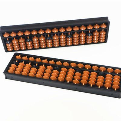 Plastic Abacus Chinese Soroban Beads Kids Math 15 Digits Ancient Calculator