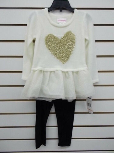 Toddler /& Girls Flapdoodles 2pc Cream Sweater /& Legging Set Size 2T//2-6X