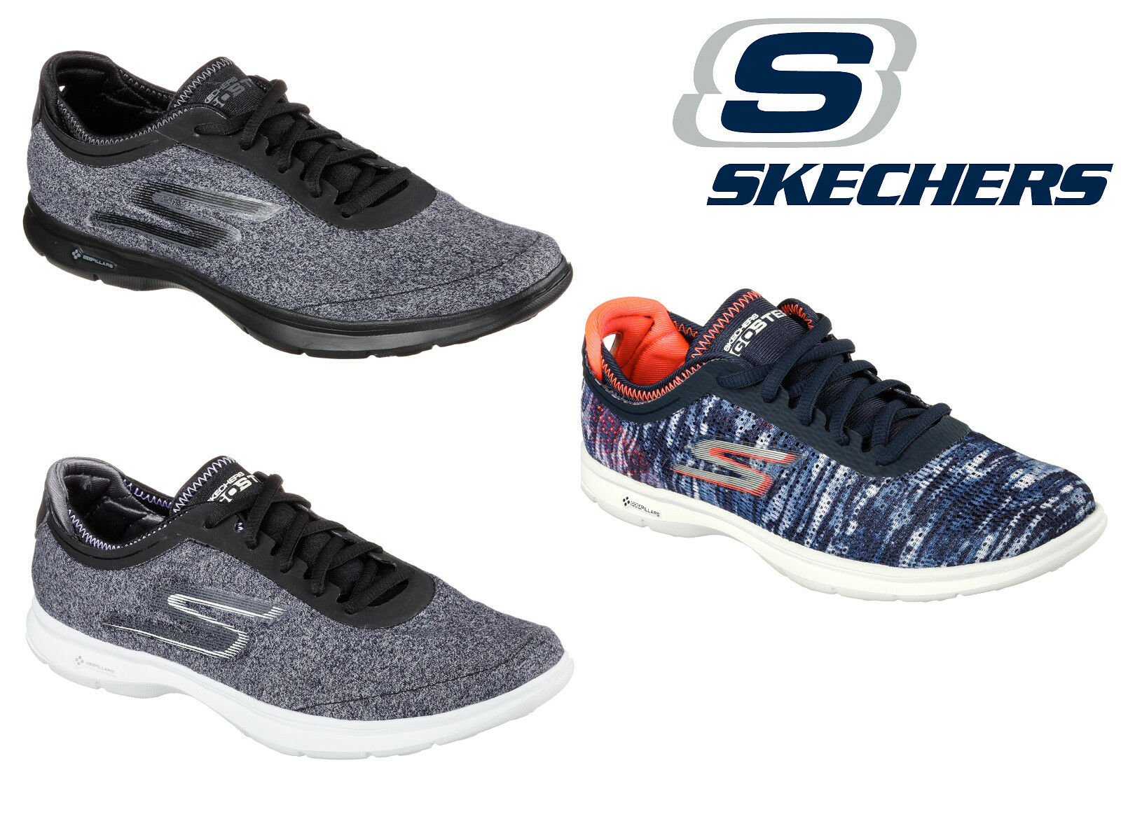 NEU Damenschuhe Skechers Casual Running Lace up gym Trainer shoe Größe 3-8