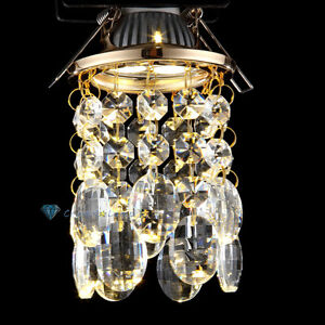 3w mr16 led gold glas kristall deckenleuchte strahler spot leuchte birne licht ebay. Black Bedroom Furniture Sets. Home Design Ideas