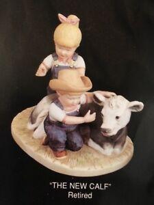 Home-Interiors-Denim-Days-8878-The-New-Calf-Figurine-Cow-Danny-Debbie-Homco