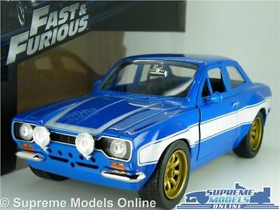 FAST /& FURIOUS BRIAN/'S FORD ESCORT MK1 RS2000 CAR MODEL 1:24 SIZE LARGE JADA T3