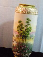 RARE Antique IE&C Co. Hand Painted, Gold moriage Porcelain Vase 1885-1925 Japan