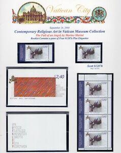 VATICAN-CITY-2004-SCOTT-NH-1287a-87b-Religious-Museum-Art-COLLECTION-FreeUSAShip