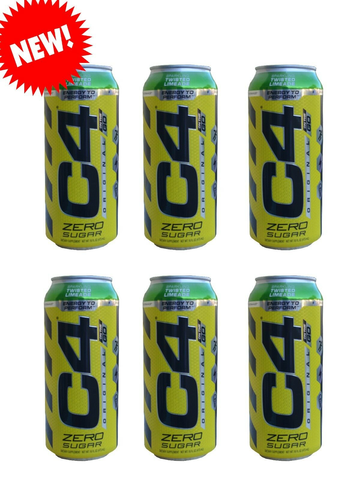 C4 On The Go >> New Cellucor C4 On The Go Sparkling Twisted Limeade Expl Preworkout Vpx Bang
