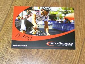 Autogrammkarte, - Sport, - Triathlon,- Manuel Küng