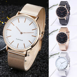 Fashion-Women-Stainless-Steel-Quartz-Analog-Wrist-Watch-Mesh-Strap-Band-Gift-HOT