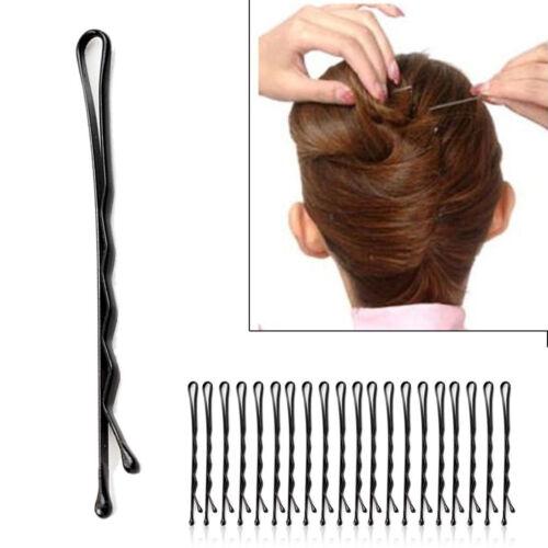 60pcs Bulk Approx.60pcs//Lot  Black Invisible Wavy Top Bobby Pins Hair Grip BT US