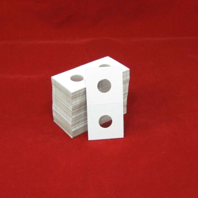100 Cardboard 2x2 Coin Holder Mylar Flips for Dime