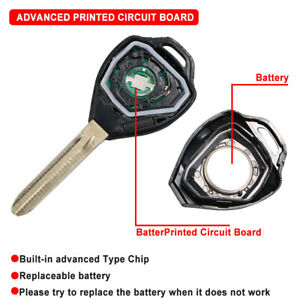 1Pcs Heart Horse Remote Key Shell Case 2 Button with Button Rubber Pad compatible with Toyota Yaris Tarago RAV4 Camry Corolla Avensis Prado