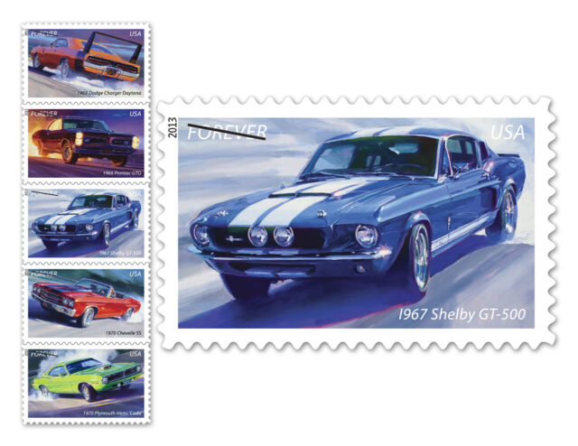 USPS New America on the Move: Muscle Cars Limited-Edition Self-Adhesive Stamps