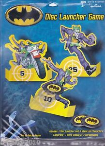 Batman Disc Launcher Game Birthday Party Supplies Table