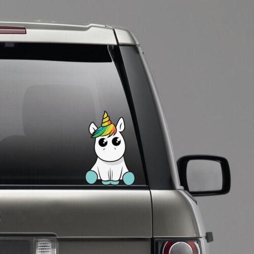 Lovely Unicorn Car Sticker Cartoon Window Decal Vinyl Waterproof Reflective YZ