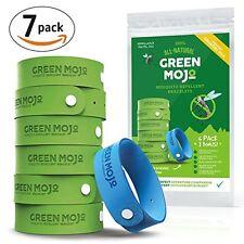 Green Mojo 100% Natural Mosquito Repellent Bracelet - Six (6) Pack + 1 Bonus