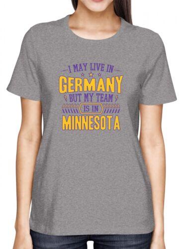 Vikings Mein Team Premium T-Shirt Minnesota Football Sport Frauen Shirt
