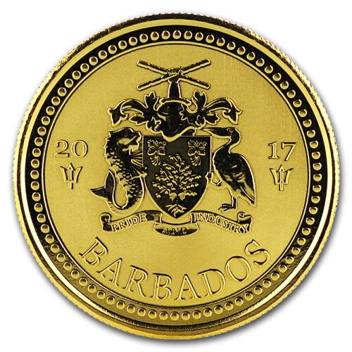 SKU#160183 2017 Barbados 1 oz Gold Trident BU