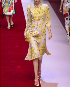 2018-Occident-spring-runway-Womens-Floral-chicken-printed-long-Cocktail-dresses