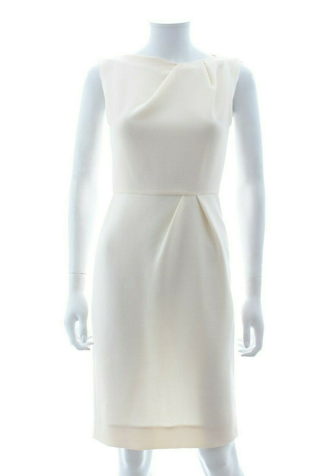 Roksanda Silk-Trimmed Wool Sheath Dress   Cream   RRP  .00