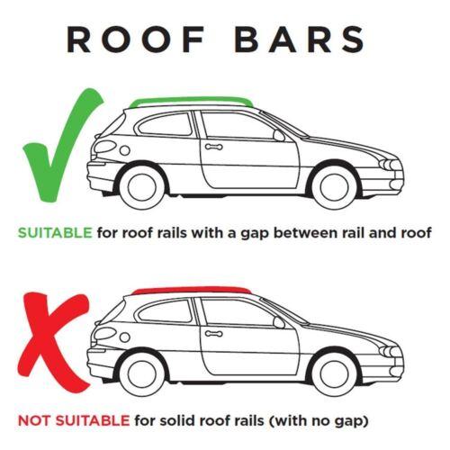 Aluminium Roof Rack Cross Bars fits Jeep Grand Cherokee 1999-2004 5 door