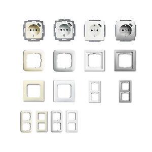 busch j ger usb steckdosen und rahmen verschiedene farben frei w hlbar ebay. Black Bedroom Furniture Sets. Home Design Ideas