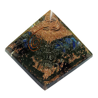 Extra Large 65-70mm Selenite Stone Orgone Pyramid Tree of Life Energy Generator