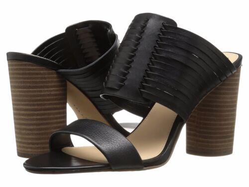 Size 8.5 Black VC-ASTAR Women Vince Camuto Astar Woven Block-Heel Sandals