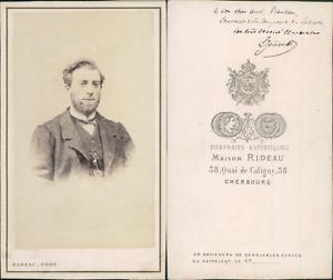 Rideau-Cherbourg-Homme-nomme-L-Jouard-circa-1865-CDV-vintage-albumen-carte-d