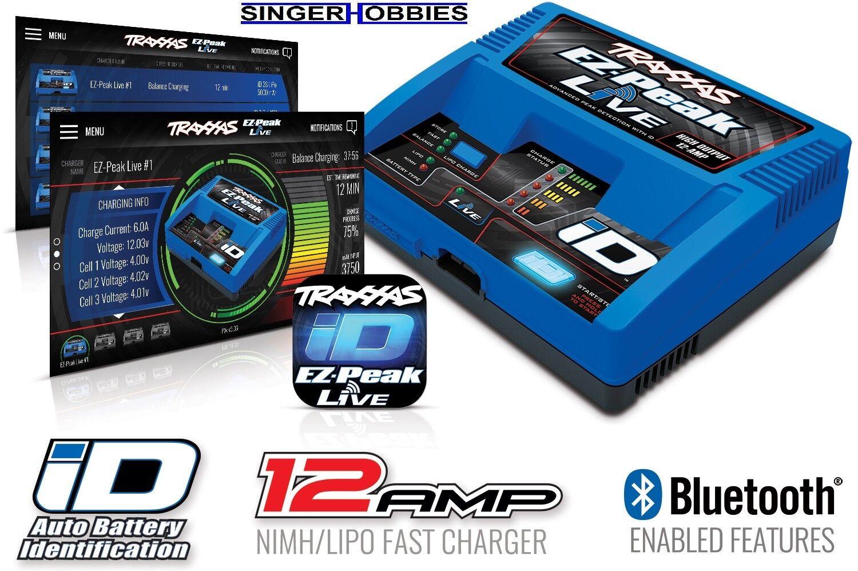 Traxxas 2971 EZ-Peak Live 12-amp NiMH LiPo Fast Battery Charger w  BT TRA1