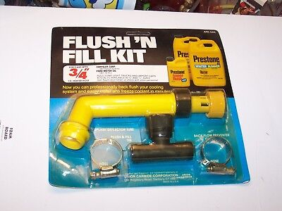 "heater hose many imports /& trucks Prestone Radiator Flush/'n Fill Kit 3//4/""  I.D"