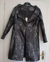 Mireia Bisbe mother of the bride silver and charcoal long jacket size 16