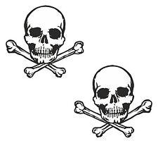 2x skull sticker Motorcycle Gas Tank car bumper decal22
