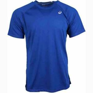 ASICS-Team-Essential-Tee-Athletic-Tops-Blue-Mens-Size-XXL