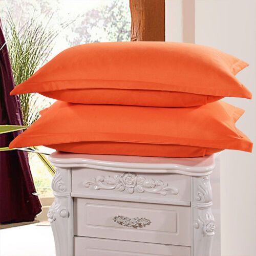 1//2Pcs 48*74cm Solid Colors Cotton Pillowcases Pillow Cases Covers Standard Size