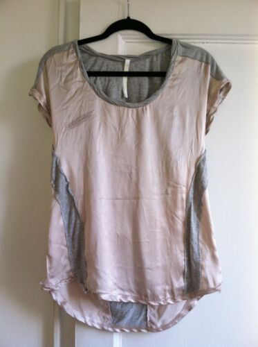RoseGris Anthropologie shirt chinéGris Côte gauche Blush soieM T en TJ5u1clFK3