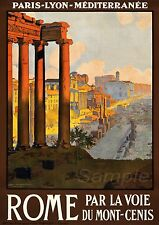 VINTAGE ROME ITALY TRAVEL A4 POSTER PRINT