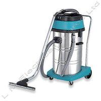 Qualtex 80l Wet & Dry Tub Vacuum Cleaner Industrial Stainless Steel Hoover 2000w