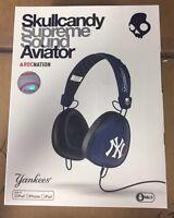 Skullcandy Rocnation Aviator Headphones York Yankees