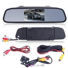 "4.3"" Car TFT LCD Monitor Mirror+Wireless Reverse Car Rear View Backup Camera Kit"