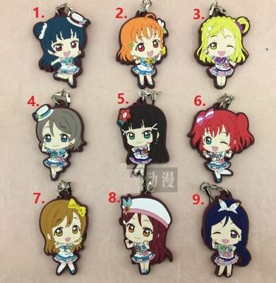 Aqours Keychain Rubber Strap Charm Gift LY Anime Love Live Sunshine! Lovelive